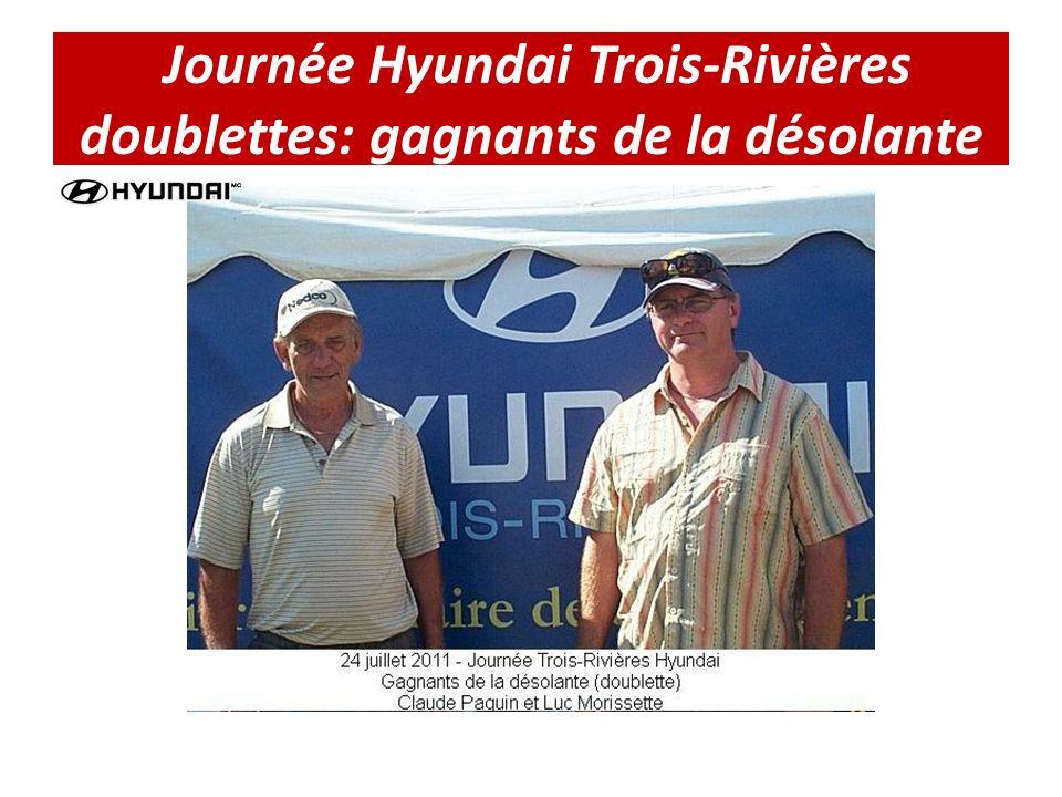 Journée Hyundai Trois-Rivières doublettes: gagnants de la désolante