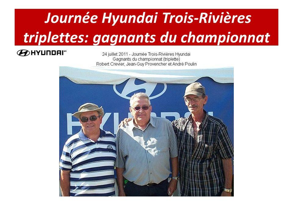Journée Hyundai Trois-Rivières triplettes: gagnants du championnat