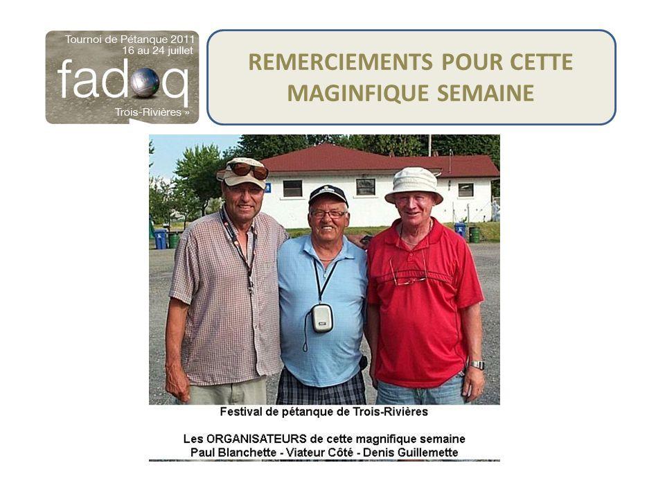 REMERCIEMENTS POUR CETTE MAGINFIQUE SEMAINE