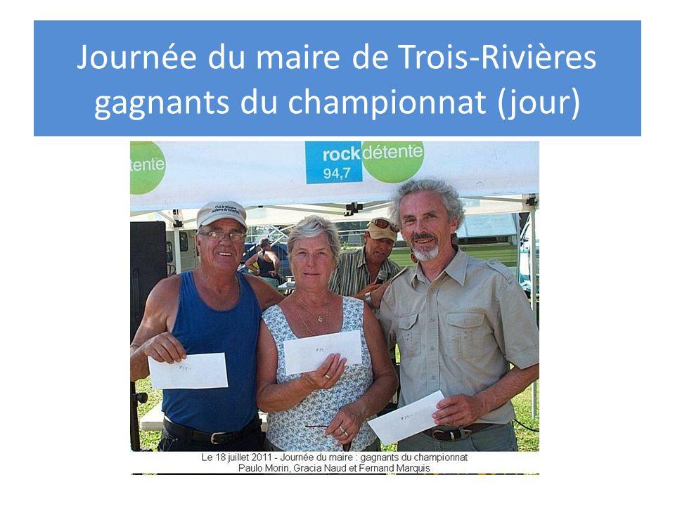 Journée du maire de Trois-Rivières gagnants du championnat (jour)