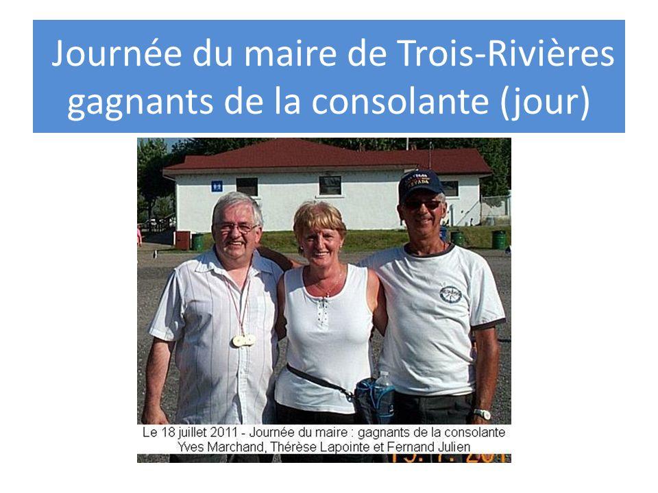 Journée Pétanque-Amis Trois-Rivières Soir: Gagnants de la consolante