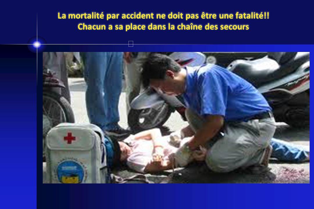 La mortalité par accident ne doit pas être une fatalité!! Chacun a sa place dans la chaîne des secours