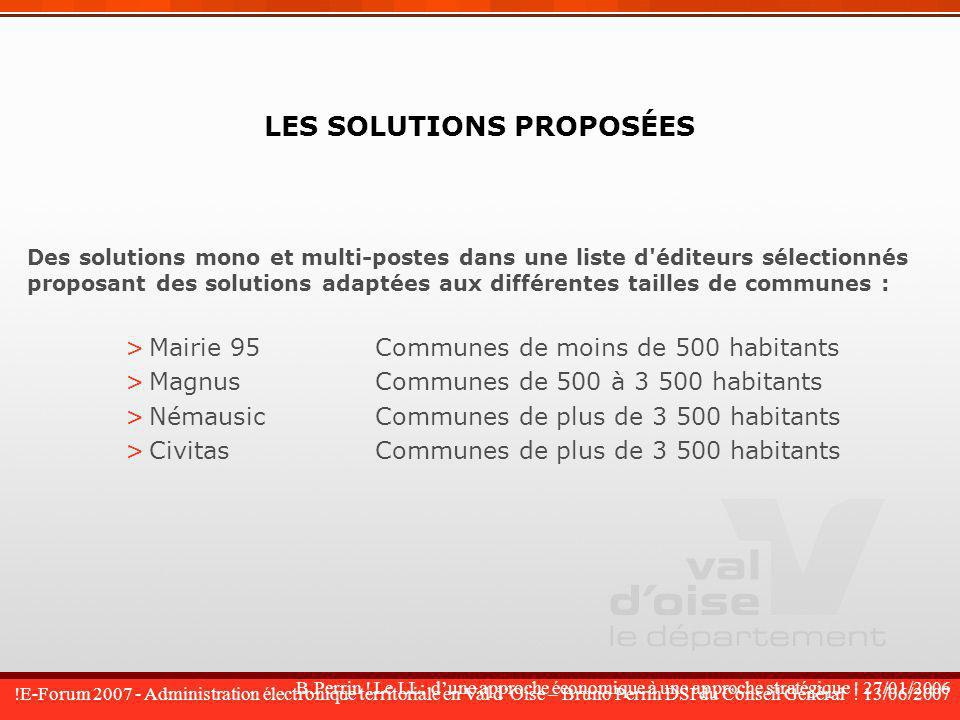 !E-Forum 2007 - Administration électronique territoriale en Val dOise – Bruno Perrin DSI du Conseil Général .