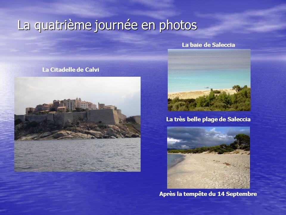 La quatrième journée en photos La Citadelle de Calvi La baie de Saleccia La très belle plage de Saleccia Après la tempête du 14 Septembre