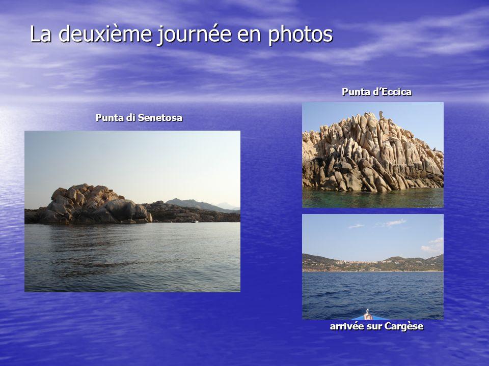 La deuxième journée en photos Punta di Senetosa arrivée sur Cargèse Punta dEccica