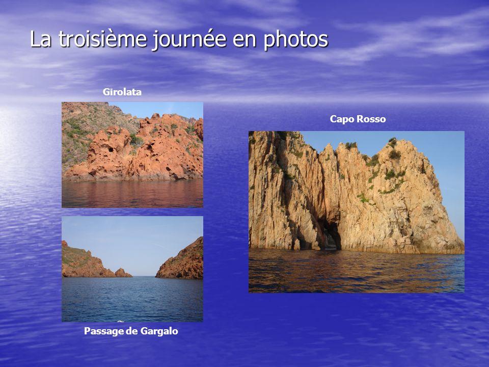 La troisième journée en photos Girolata Capo Rosso Passage de Gargalo
