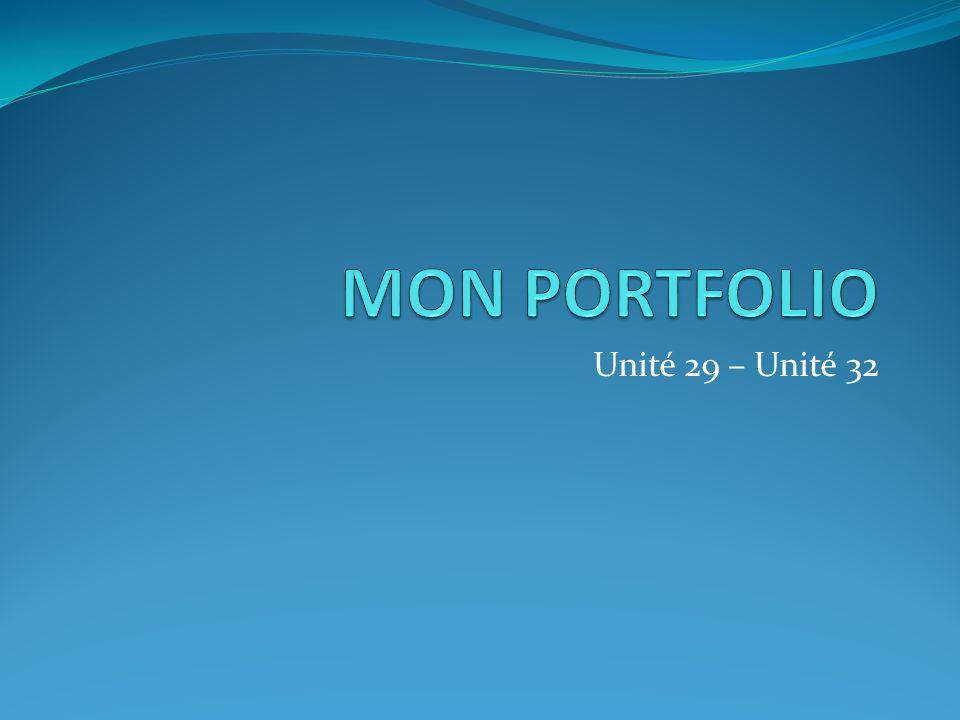 Unité 29 – Unité 32