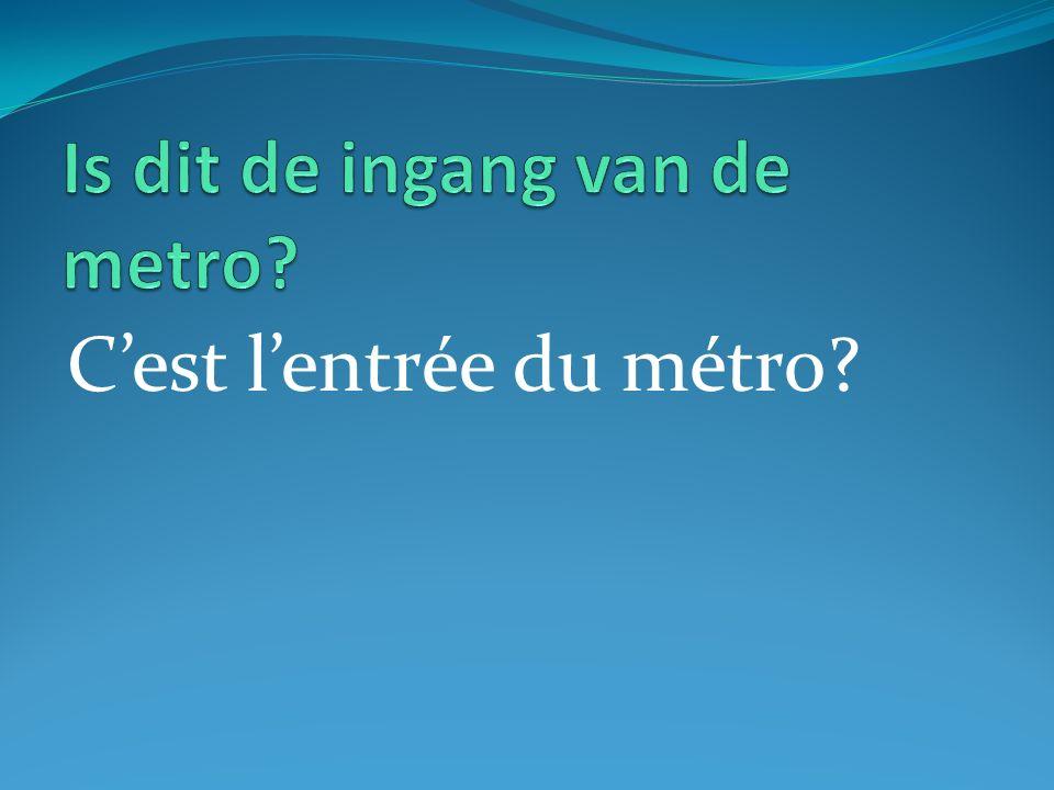 Cest lentrée du métro?