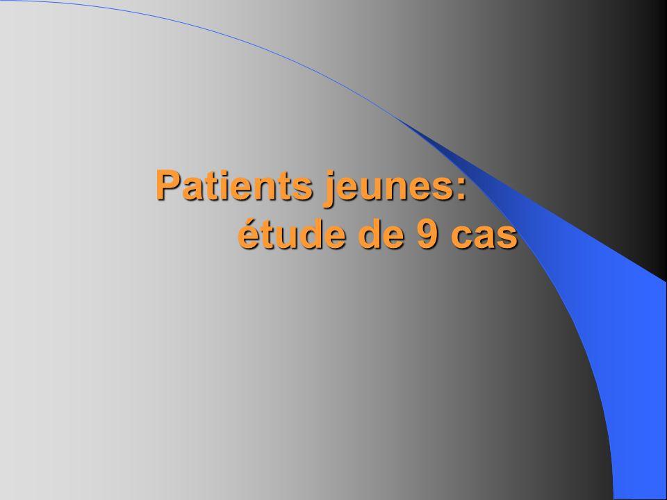 Patients jeunes: étude de 9 cas