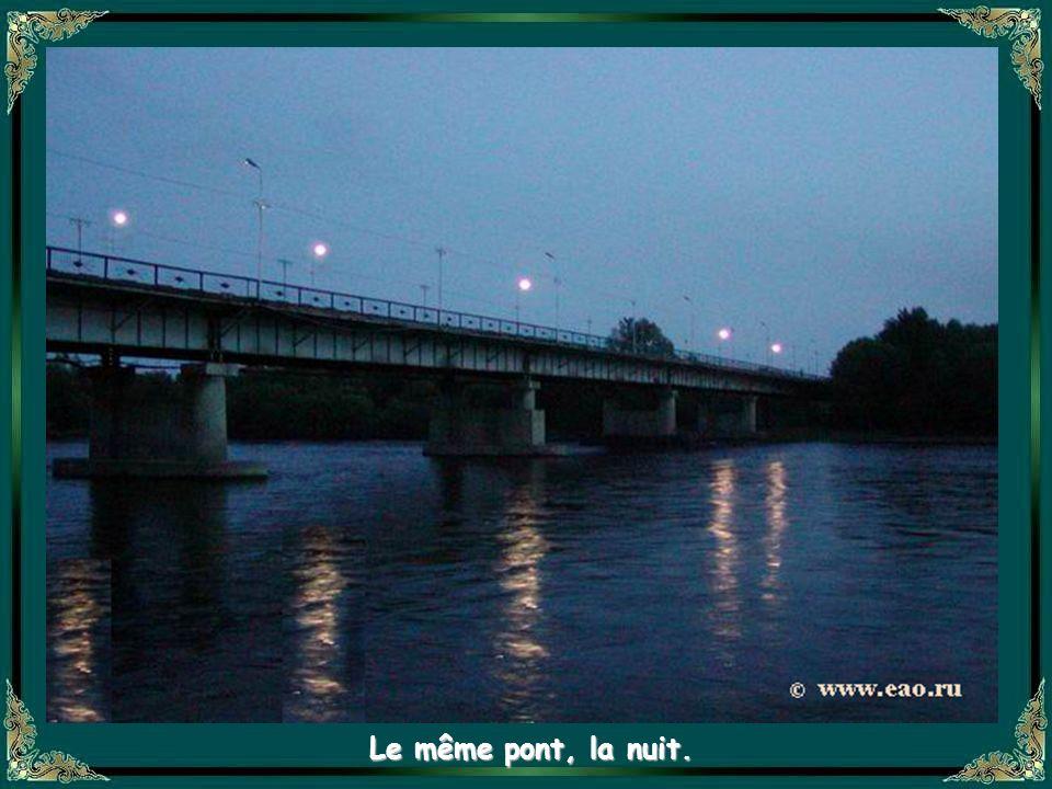 Pont sur la rivière Bira et accès à la capitale de Birobidjan. Lautre rivière qui la traverse est la Bidjan, doù le nom de la capitale.