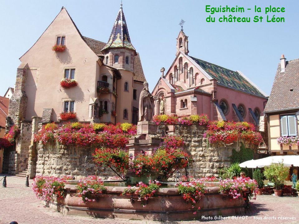 Eguisheim – la place du château St Léon