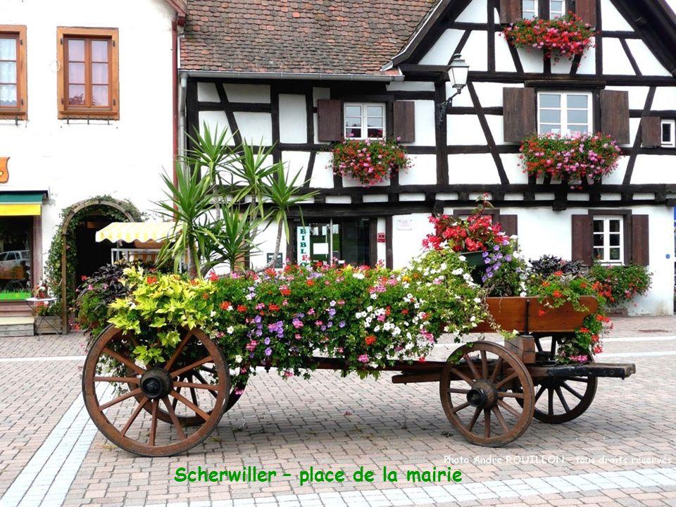 Scherwiller – place de la mairie