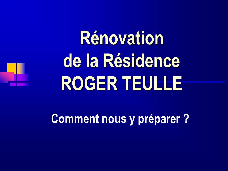 Rénovation de la Résidence ROGER TEULLE Comment nous y préparer