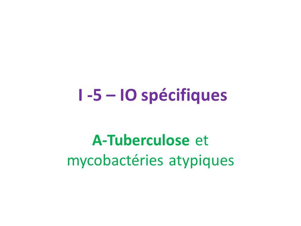 I -5 – IO spécifiques A-Tuberculose et mycobactéries atypiques