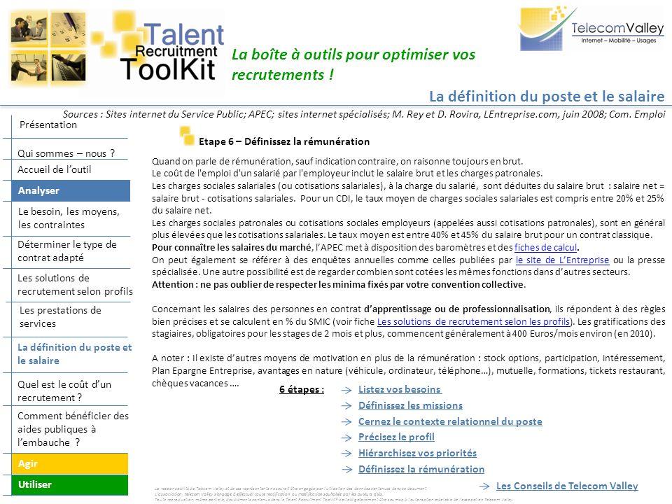 La boîte à outils pour optimiser vos recrutements ! Etape 6 – Définissez la rémunération Quand on parle de rémunération, sauf indication contraire, on