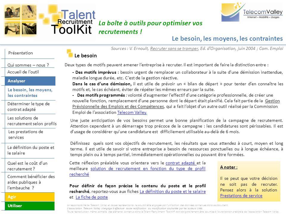 Embaucher et Intégrer La boîte à outils pour optimiser vos recrutements .