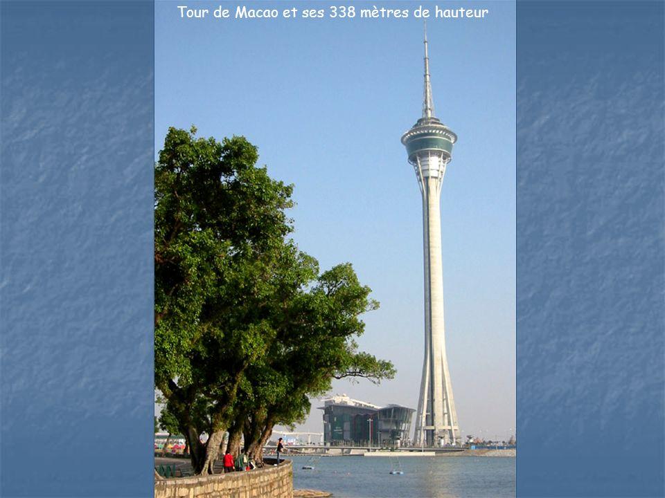 La Tour de Macao – Centre de conventions et de diversion avec un restaurant giratoire au sommet