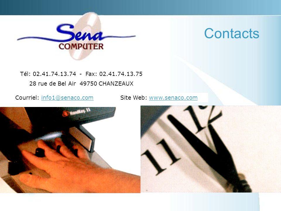 Courriel: info1@senaco.cominfo1@senaco.com Contacts Tél: 02.41.74.13.74 - Fax: 02.41.74.13.75 28 rue de Bel Air 49750 CHANZEAUX Site Web: www.senaco.comwww.senaco.com