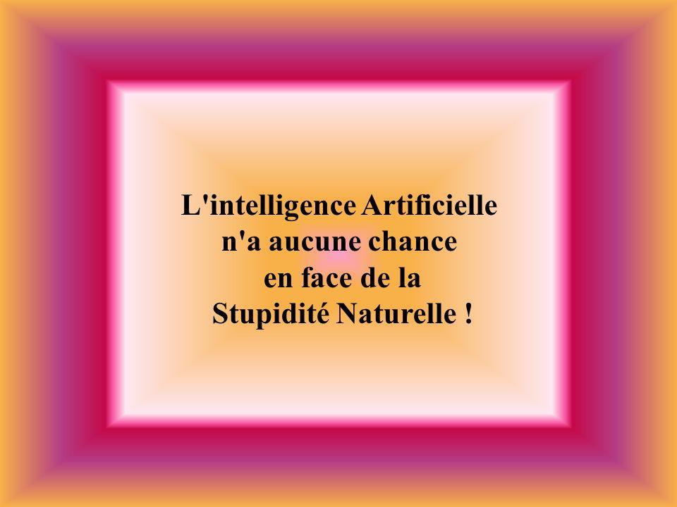 L'intelligence Artificielle n'a aucune chance en face de la Stupidité Naturelle !