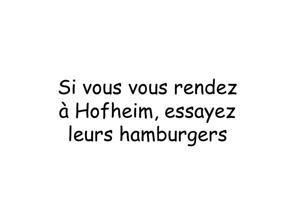 Si vous vous rendez à Hofheim, essayez leurs hamburgers