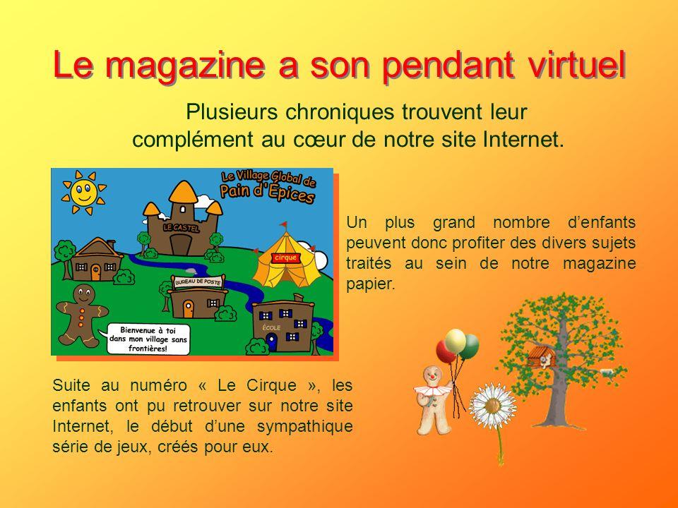 Le magazine a son pendant virtuel Plusieurs chroniques trouvent leur complément au cœur de notre site Internet. Un plus grand nombre denfants peuvent
