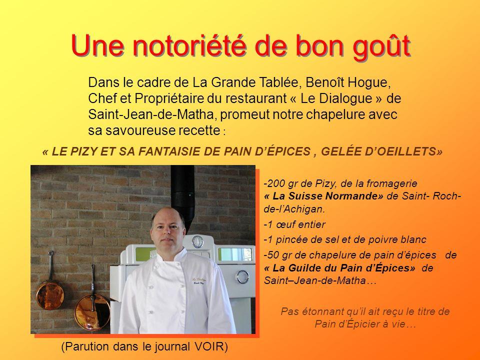 Une notoriété de bon goût -200 gr de Pizy, de la fromagerie « La Suisse Normande» de Saint- Roch- de-lAchigan. -1 œuf entier -1 pincée de sel et de po
