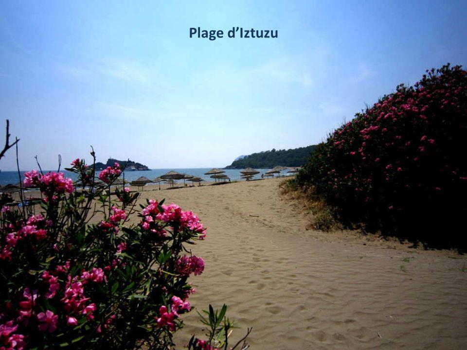 Nous arrivons à cette plage, site protégé de nidification des tortues marines, accessible uniquement par bateau.