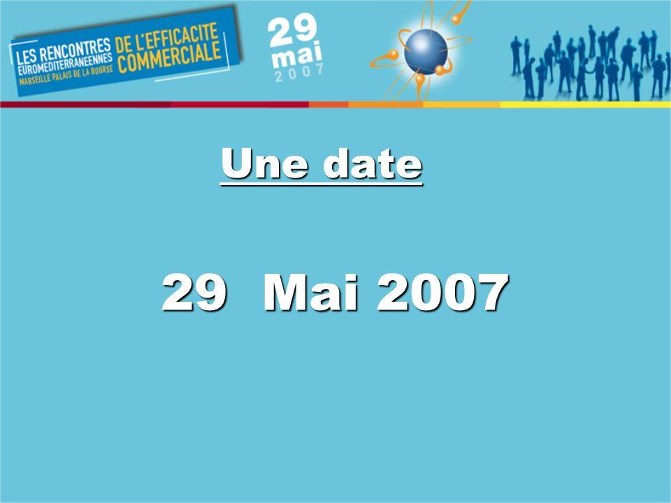 Une date 29 Mai 2007