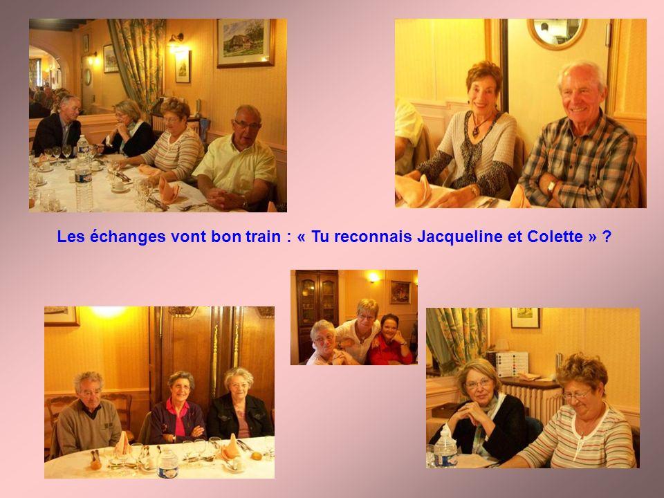 Les échanges vont bon train : « Tu reconnais Jacqueline et Colette » ?