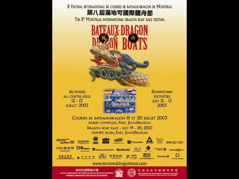 Le Festival des Bateaux-Dragons a lieu le cinquième jour du cinquième mois du calendrier lunaire chinois.
