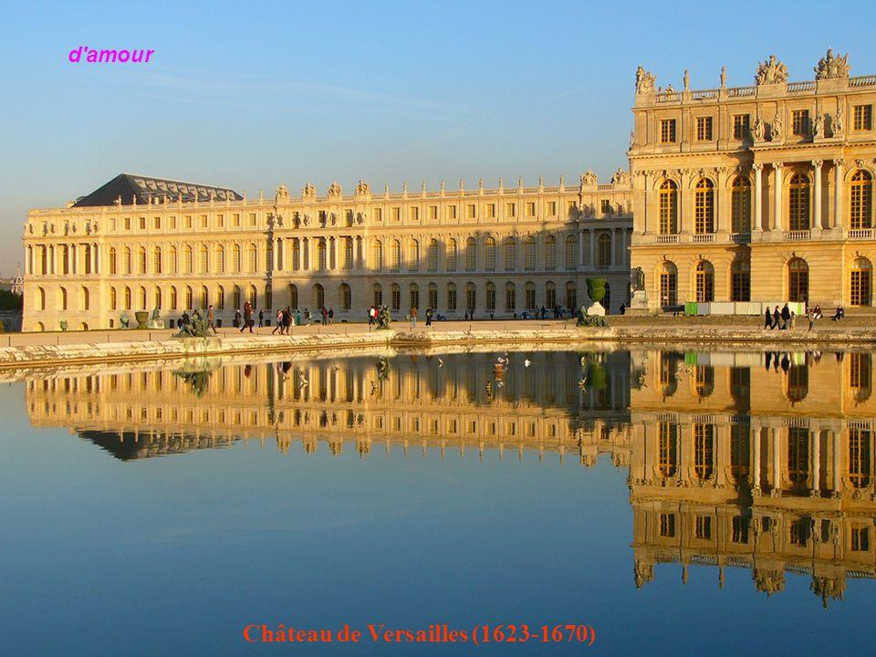 Le château de Versailles (1623-1670) et son jardin, à 30km de Paris amant. Plaisir