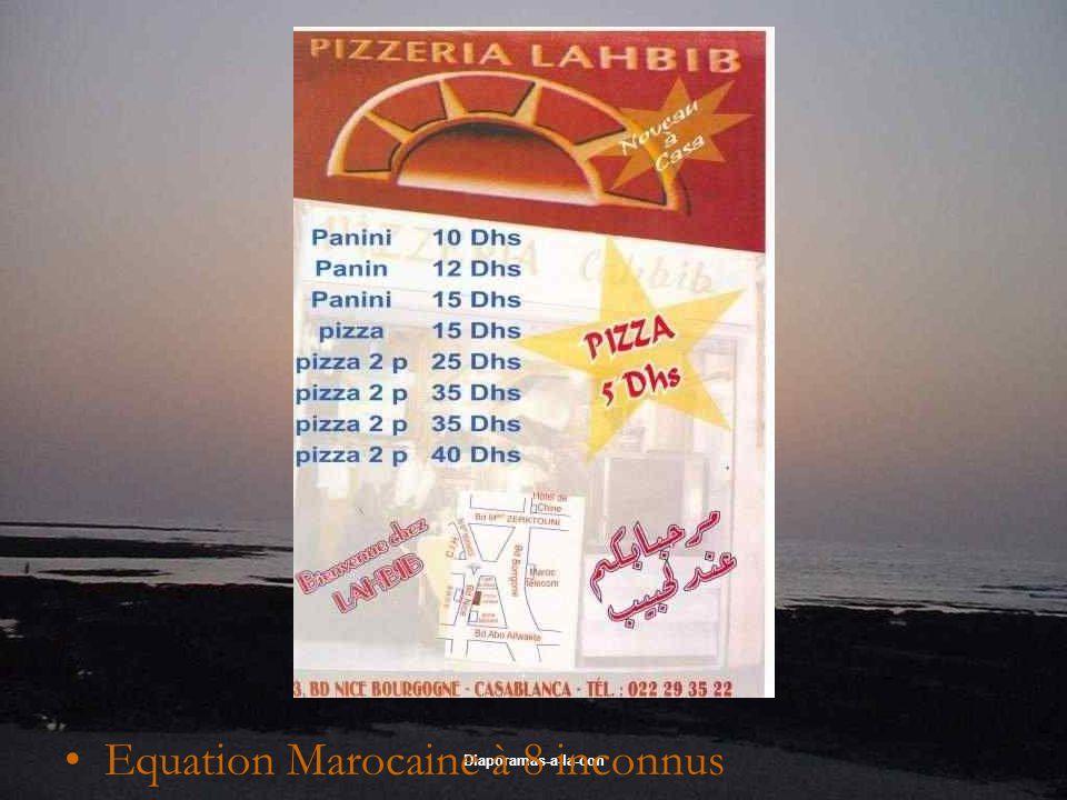 Diaporamas-a-la-con Equation Marocaine à 8 inconnus