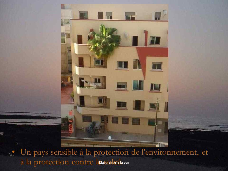 Diaporamas-a-la-con Un pays sensible à la protection de lenvironnement, et à la protection contre le soleil.