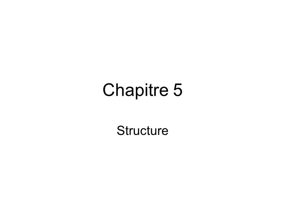 Chapitre 5 Structure