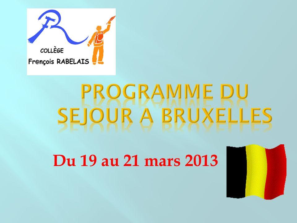 Du 19 au 21 mars 2013
