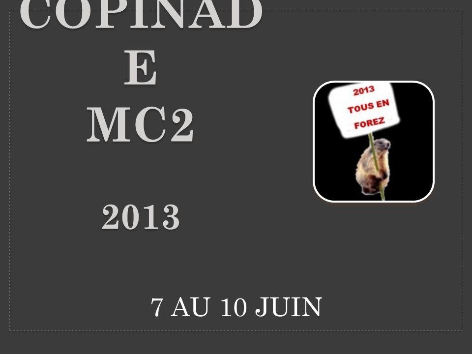 7 AU 10 JUIN COPINAD E MC2 2013