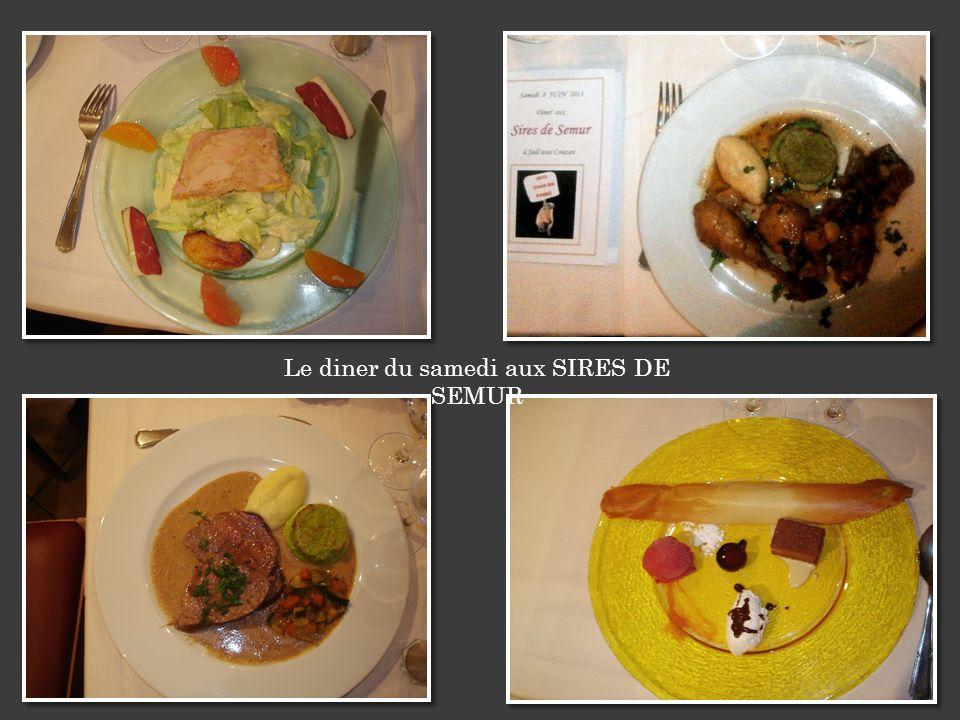 Le diner du samedi aux SIRES DE SEMUR