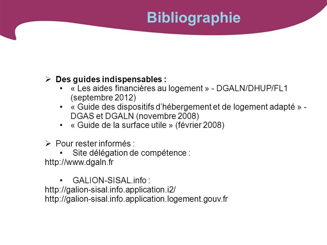 Des guides indispensables : « Les aides financières au logement » - DGALN/DHUP/FL1 (septembre 2012) « Guide des dispositifs dhébergement et de logemen