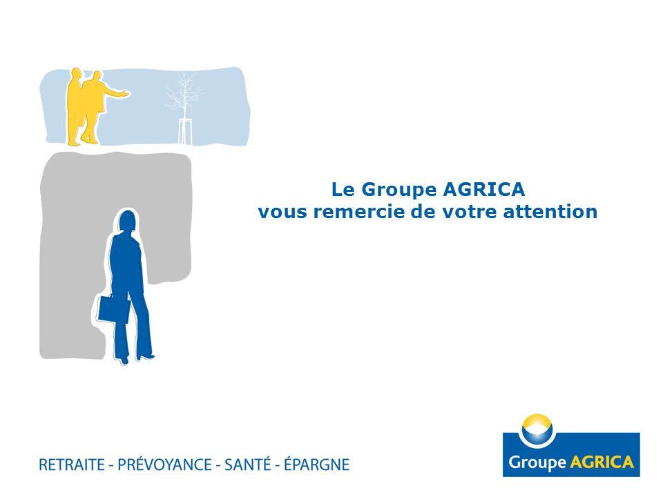 Le Groupe AGRICA vous remercie de votre attention