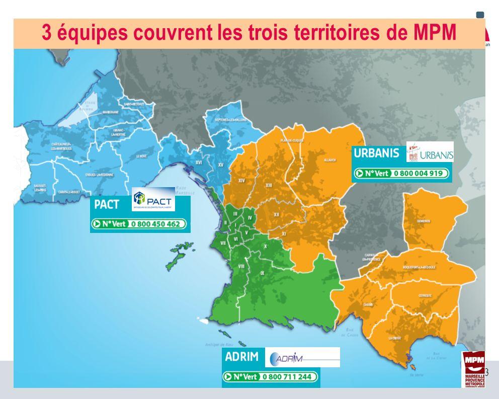23 3 équipes couvrent les trois territoires de MPM