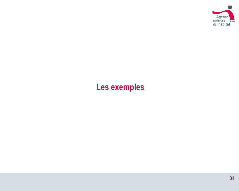 34 Les exemples