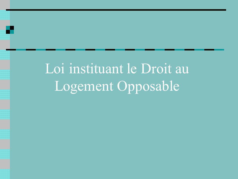 Loi instituant le Droit au Logement Opposable