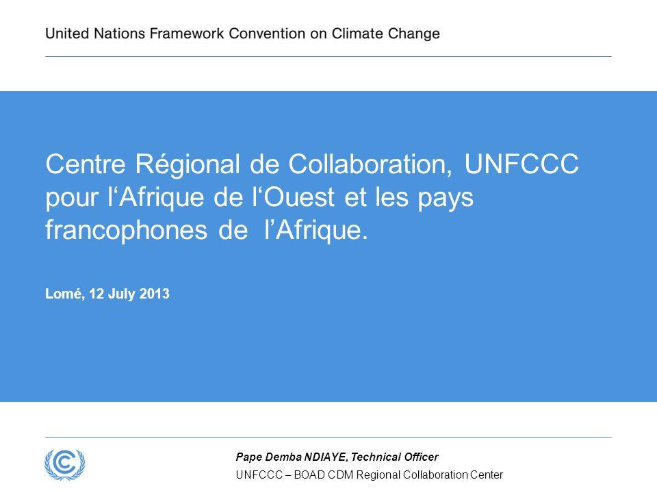 2 Vue densemble Contexte de la finance carbone et du MDP MDP : bilan de mise en oeuvre Centre Régional de Collaboration : pourquoi.