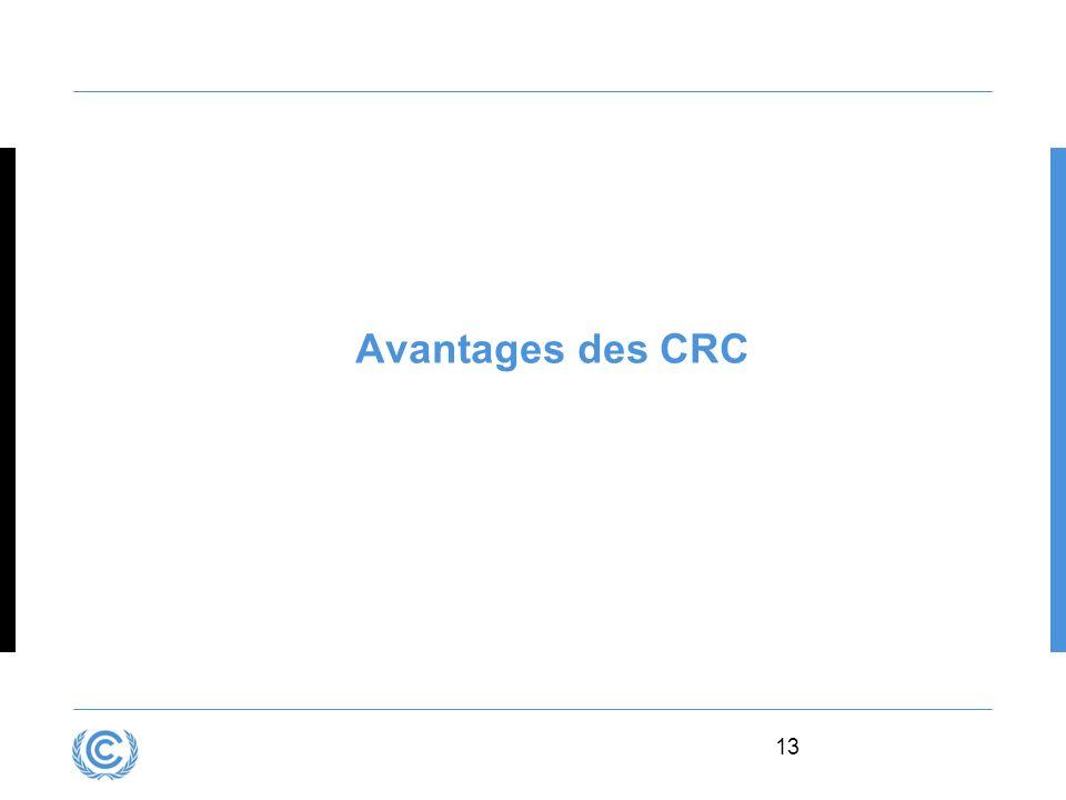 13 Avantages des CRC