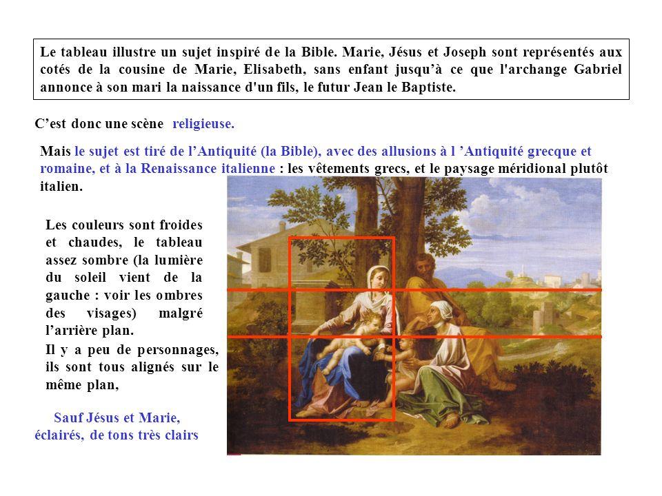 Le tableau illustre un sujet inspiré de la Bible.