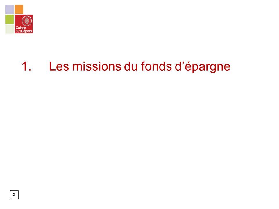3 1. Les missions du fonds dépargne