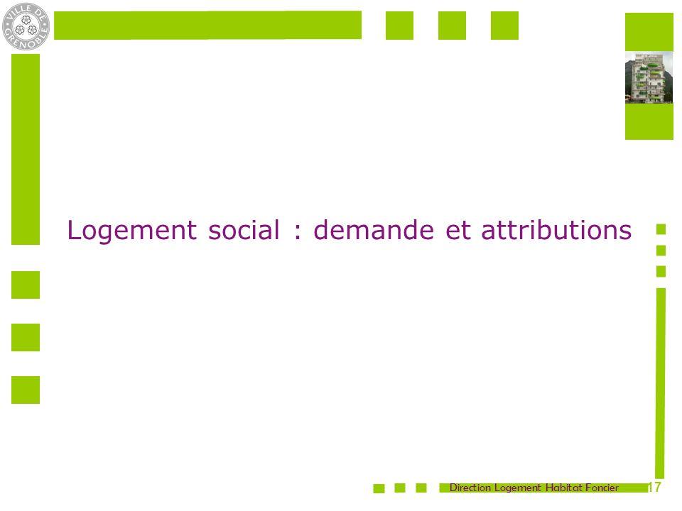Direction Logement Habitat Foncier 17 Logement social : demande et attributions