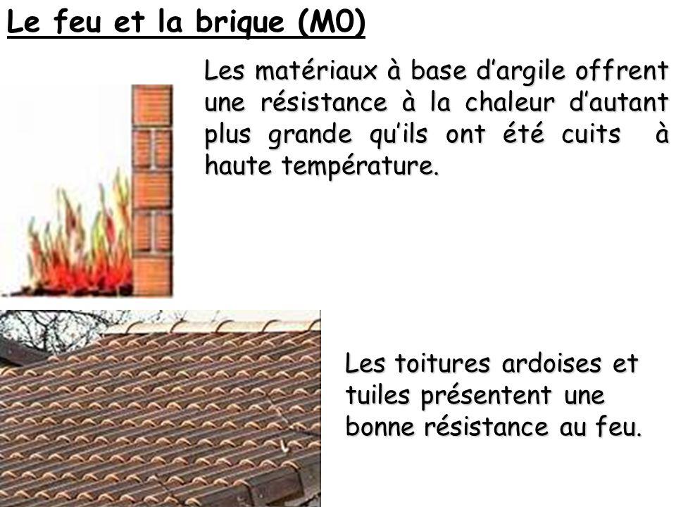 Le feu et la brique (M0) Les matériaux à base dargile offrent une résistance à la chaleur dautant plus grande quils ont été cuits à haute température.