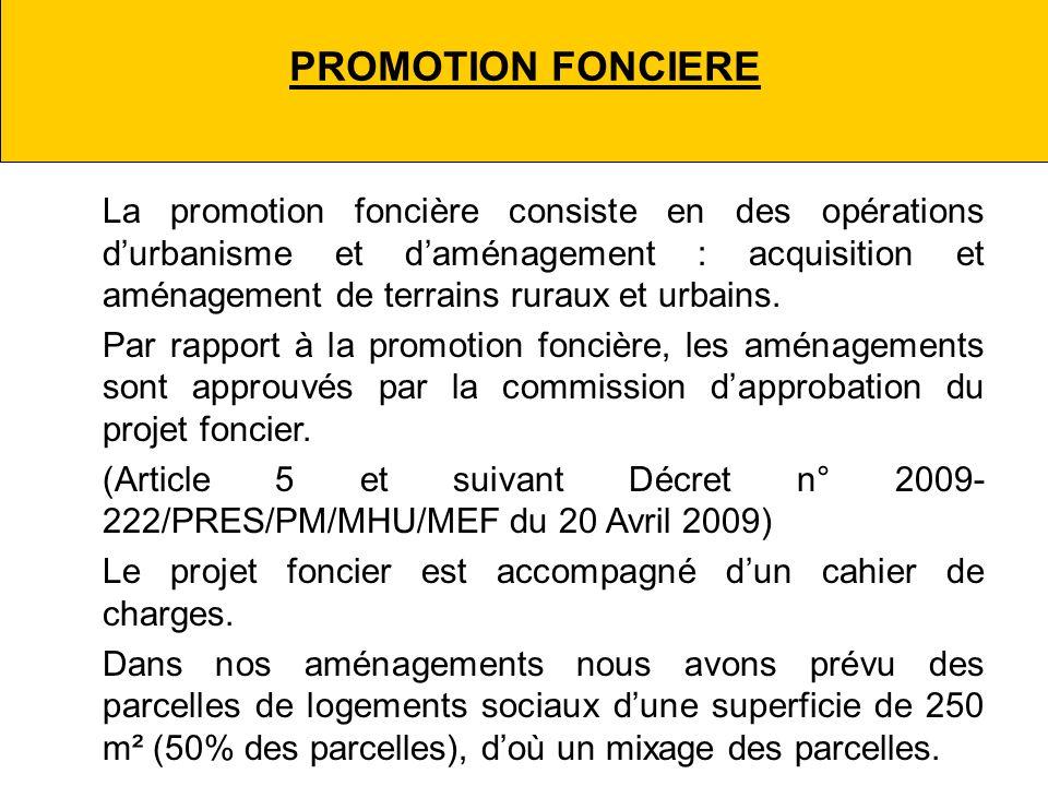 PROMOTION FONCIERE La promotion foncière consiste en des opérations durbanisme et daménagement : acquisition et aménagement de terrains ruraux et urbains.