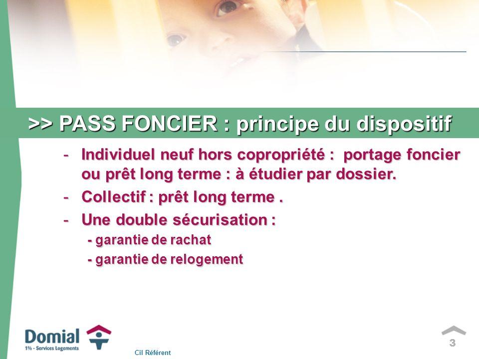 3 >> PASS FONCIER : principe du dispositif -Individuel neuf hors copropriété : portage foncier ou prêt long terme : à étudier par dossier.